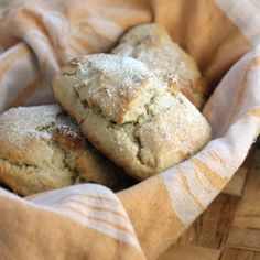 Marzipan scones -- Yum! Better with the Danish Odense Marcipan -- richer flavor since it's 60% almonds