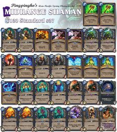 World renowned Shaman player Pingpingho took this original list to the Asia-Pac. Championships! View more of this tournament's decks through our linkin.bio! #Hearthstone