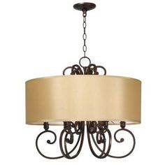 World Imports, Rue Maison Euro Bronze 6-Lights Iron Chandelier with Shades, WI352629 at The Home Depot - Mobile
