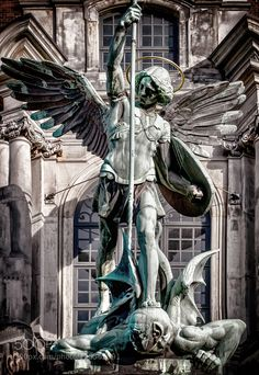 "Michael's Church Lorenzo Mattielli ""Fall of the Angels"" St. Michael Tattoo, Archangel Michael Tattoo, Angel Warrior Tattoo, Warrior Tattoos, Religious Images, Religious Art, Saint Michael Statue, Michael And Lucifer, St Micheal"
