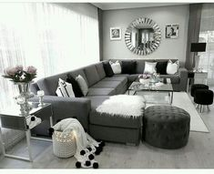 Thrilling Contemporary Decor Industrial Ideas 7 Outstanding Tips: Contemporary Lamp Chairs contemporary furniture kitchen. Living Room Decor Cozy, Living Room Grey, Living Room Sets, Home Living Room, Living Room Designs, Black White And Grey Living Room, Cozy Living, Contemporary Cottage, Contemporary Bedroom