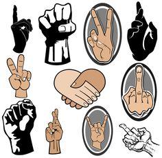 Free Hand Gestures Vector Art