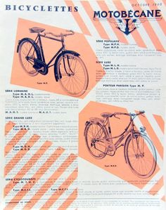 1960 Motobecane Bicyclette Velo Prospectus | eBay