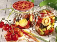 Receitas - Tomates e azeitonas de conserva - Petiscos.com