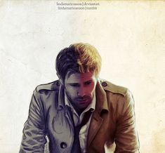Ok I have been working really hard and I believe this might be one of my best ones yet. I present Matt Ryan as Constantine. <---- Beautiful fanart :)