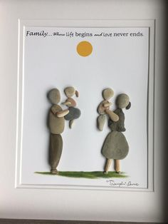 Family pebble art Family pebble art The post Family pebble art appeared first on Best Pins. Stone Crafts, Rock Crafts, Arts And Crafts, Stone Painting, House Painting, Family Painting, Rock Family, Pebble Art Family, Rock Sculpture