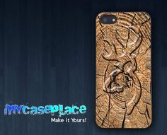 Real Tree with Deer Engraving Phone Case for Iphone 4/4S/5/5S and Samsung Galaxy S3/S4
