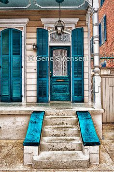 New Orleans French Quarter Door Series  by GeneSwensenStudio, $9.00