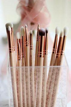 12pcs/set rose golden complete eye set precision eyes makeup brushes set with eyeshadow blending pencil makeup brushes