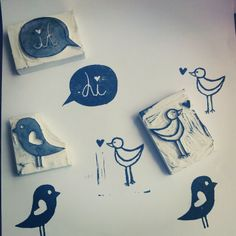 Handmade stamps - Made by ♥ Studio Laen -