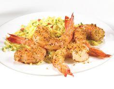 Shrimp + olive oil + McCormick Savory Garlic and Italian Herb Shrimp seasoning = 15 minutes to YUM!