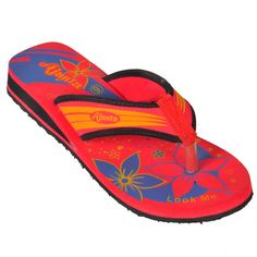 Ajanta Red::Black Men Slippers