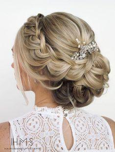 Featured Hairstyle: Hair and Makeup by Steph (Stephanie Brinkerhoff); www.hairandmakeupbysteph.com; Wedding hairstyle idea. #uniqueweddingmakeup