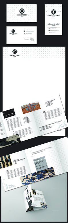 Logo - Business card - Header - Catalogue design - Beneferr, decorative smithery firm