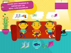 """Learn how to draw and color your favorite toys with """"Sharing with Duckie Deck"""" - featured in our Best Early Skills Apps of 2013 post! #topkidsapps #edtech"""