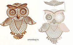 Crochet owl diagram
