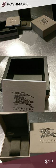 Burberry watch box set 4 piece Burberry watch box set.  Boxes only (no watch).  Includes watch instruction booklet. Burberry Other