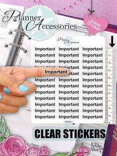 Clear Important Stickers Important von EmelysPlannerShop auf Etsy