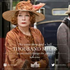 Shirley MacLaine as Martha Levinson, Lady Grantham's mother. Via Downton Abbey Facebook page.