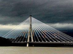 Storm over Świętokrzyski Bridge, Warsaw