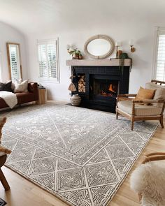 beautiful living room design ideas with fireplace mantle to inspire you page 8 Boho Living Room, Living Room Decor, Bedroom Decor, Living Room Rugs, Design Bedroom, Diy Carpet, Wall Carpet, Carpet Decor, Carpet Ideas