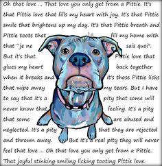 Oh that love ... Pit Bull art print by CartoonYourMemories