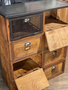 Wooden Organizer, Wood Drawers, Dear Santa, Storage Cabinets, Filing Cabinet, Creations, Antiques, Toulouse, Furniture