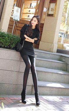 Fashion Models, Girl Fashion, Womens Fashion, Fashion Trends, South Korea Fashion, Fashion Tights, Skinny Girls, Beautiful Asian Women, Tight Dresses