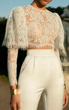 Casual Sexy Hollow Out Perspective Short Style Lace T Shirt – koalasweet Trendy Dresses, Nice Dresses, Casual Dresses, Fashion Dresses, Fashion Clothes, Fashion Week, Trendy Fashion, Women's Fashion, Fashion Ideas