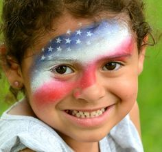 fourth of july face paint - Google Search