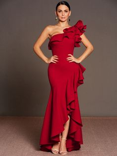 Cheap long dress, Buy Quality dress plus directly from China plus dress Suppliers: Clocolor women elegant evening long dress mermaid plus shouler full length ruffled sleeve fishtail party wedding Vestidos dress Elegant Party Dresses, Trendy Dresses, Casual Dresses, Bridesmaid Dresses, Prom Dresses, Formal Dresses, Dress Outfits, Fashion Dresses, Fashion Clothes