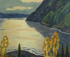 Edwin Holgate (Canadian, 1892-1977), Saguenay River, 1955. Oil on panel, 21.6 x 26.7 cm.