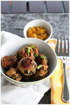 vegetarian meatballs with eggplant via dash of east