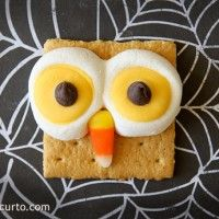 Halloween food fun ideas a cute little owl, I posted from some of my favorite bloggers | MmGood.com