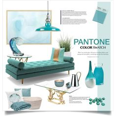 Pantone Colour Swatch by rever-de-paris on Polyvore featuring interior, interiors, interior design, home, home decor, interior decorating, Joybird Furniture, Stelton, Pottery Barn and Missoni Home