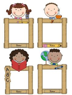 Teacher Tech Time: Spreadsheets are done & student welcome Classroom Labels, Classroom Decor, Student Picture, Kindergarten, Back To School Bulletin Boards, School Labels, School Clipart, School Frame, School Decorations