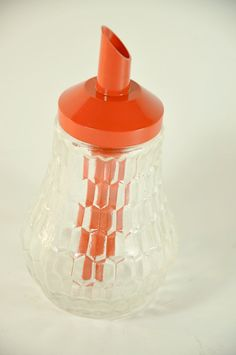 Retro Red Sugar Dispenser by LilytheDog on Etsy
