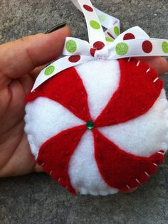 Pinwheel Felt Ornament.