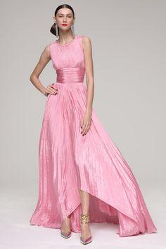 Oscar de la Renta Pleated Gown - Lyst. Not too dramatic, but elegantly pleasant!