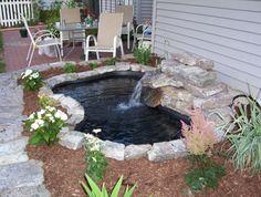 fliessendes Wasser Gartengestaltung Ideen mit Teich
