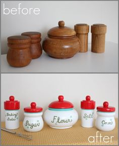 Canisters for play kitchen