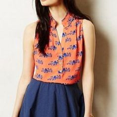Anthropologie Tops - 🎀 Maeve Octopus Printed Fitz Tank Top