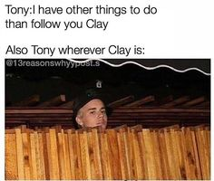 We see you Tony, we see you.
