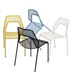 Outdoor chairs for pairing with Zen table. So fun! Modern Chair - Hot Mesh Indoor/Outdoor Chair by Blu Dot