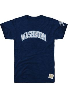 9d513b1a4 Original Retro Brand Washburn Ichabods Navy Blue Arch Short Sleeve Fashion T  Shirt - 4812299