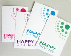 Popular items for birthday card purple on Etsy
