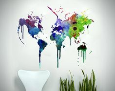 Interior Inspiration: World Map Decor | With love from Guyana