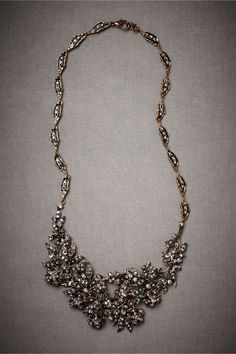 Flickering Festoon Necklace in SHOP The Bride Bridal Jewelry at BHLDN  seaweed? possibly?