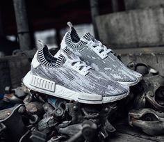 Adidas NMD R1 PK Primeknit Tri Color 8 12 Black BB2887 White