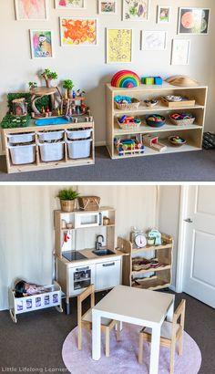 Small Playroom, Toddler Playroom, Playroom Design, Kids Room Design, Playroom Decor, Toy Room Storage, Lego Storage, Ikea Storage Kids, Storage For Toys
